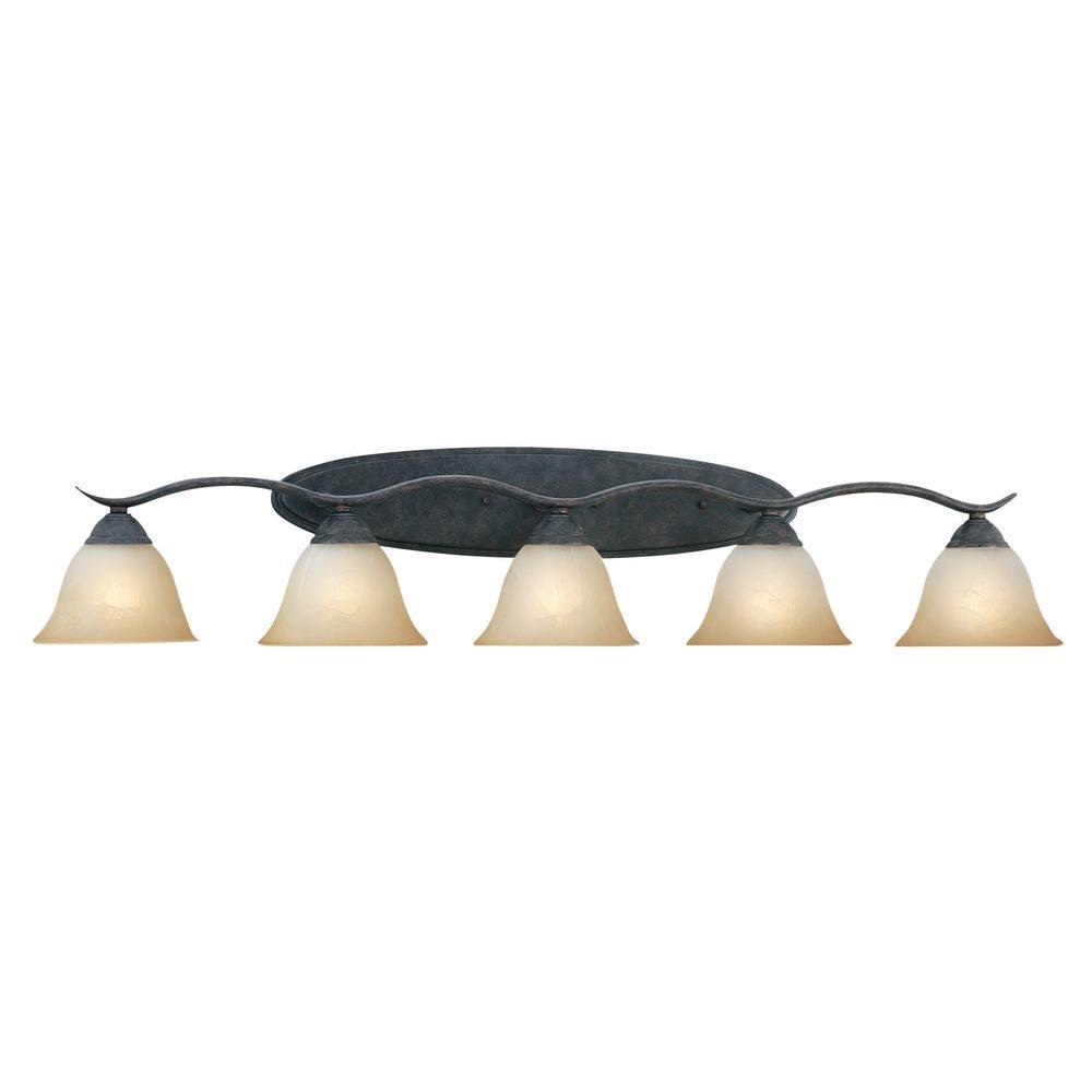 Prestige 5-Light Sable Bronze Wall Vanity Light