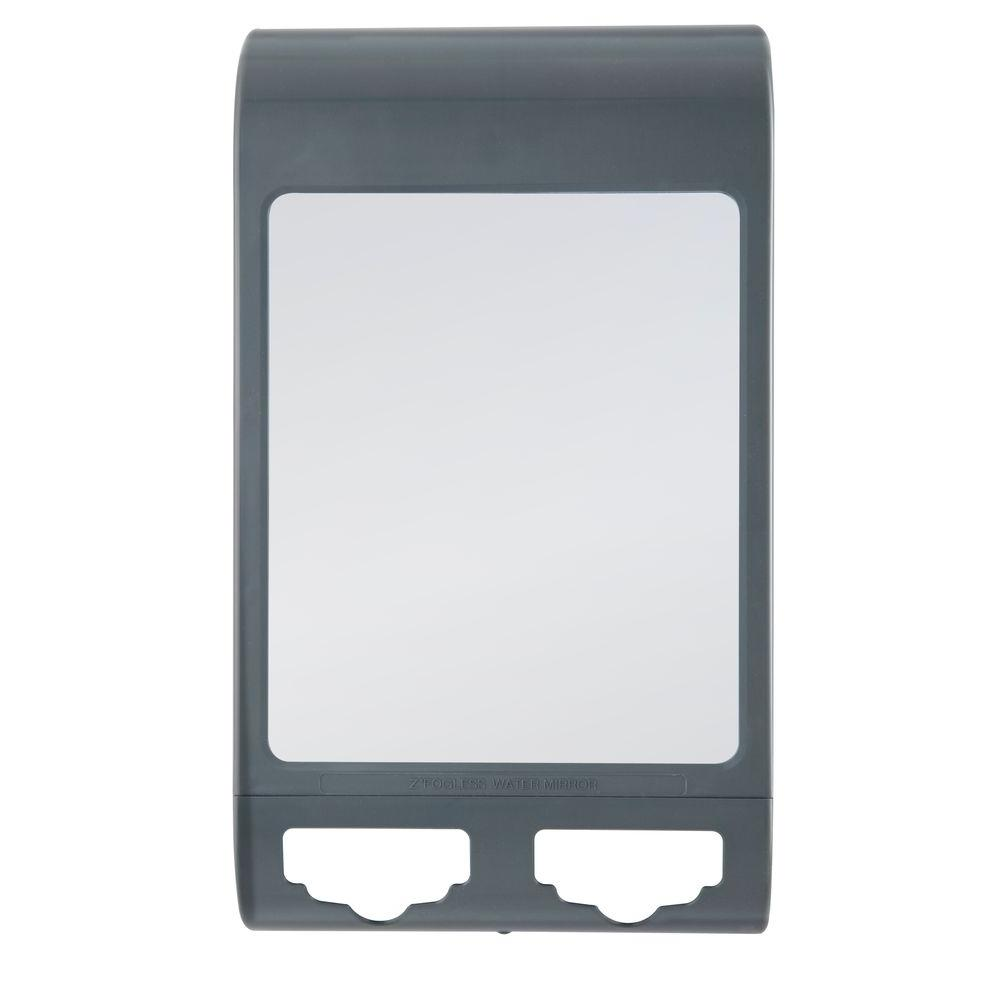 Z Fogless 10 In X 6 Water Shower Mirror Gray