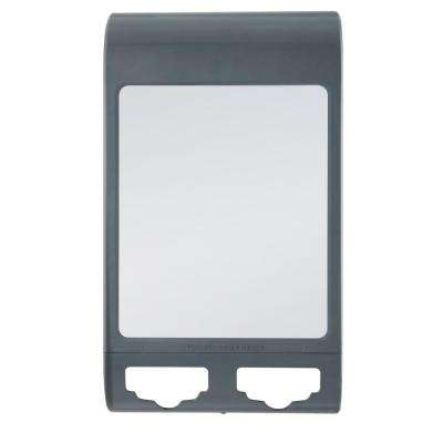 10 in. x 6 in. Water Shower Mirror in Gray