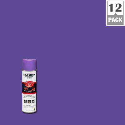 17 oz. M1600 System Precision Line Solvent-Based Fluorescent Purple Inverted Marking Spray Paint (12-Pack)