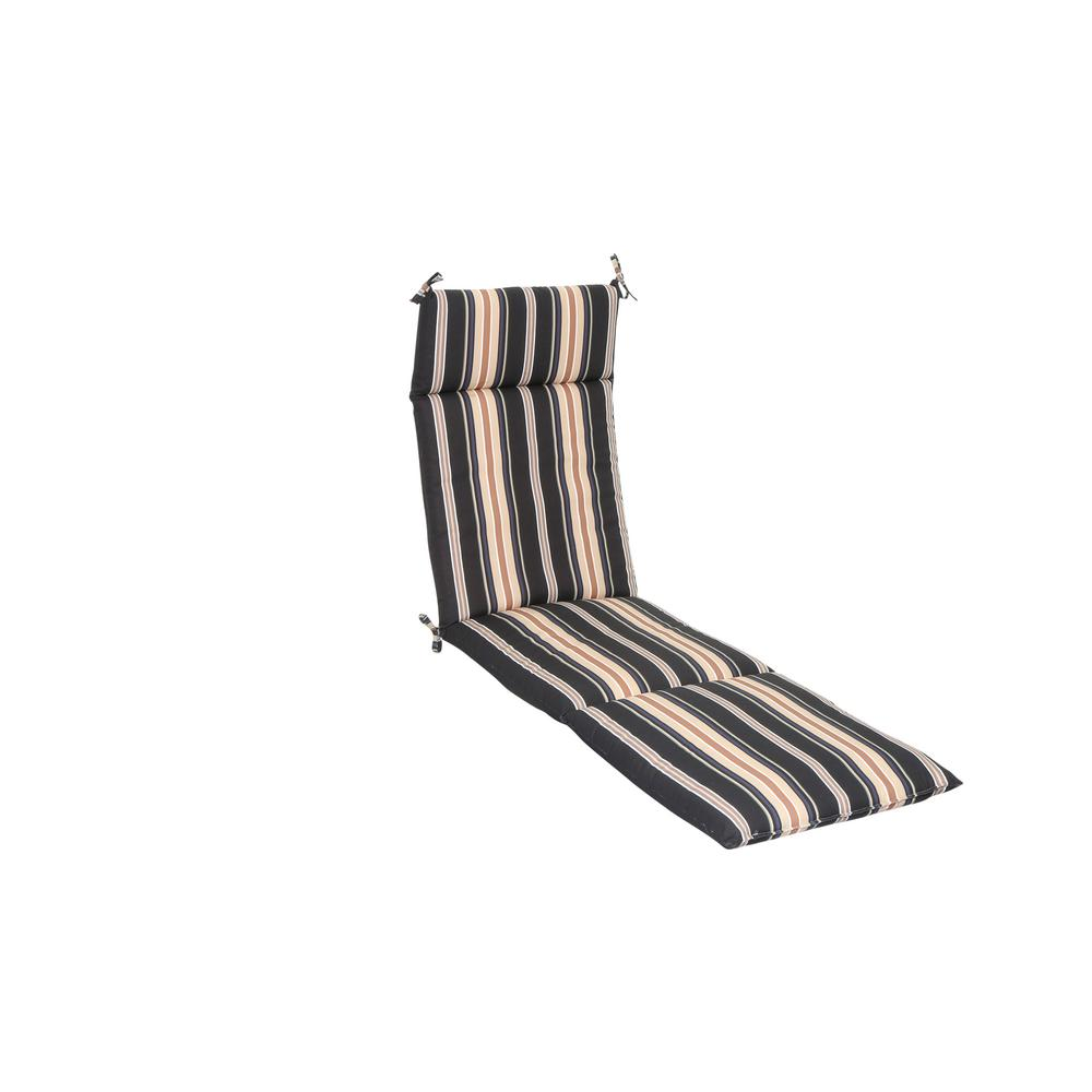 H&ton Bay Caprice Stripe Outdoor Chaise Lounge Cushion  sc 1 st  Home Depot : pool chaise lounge cushions - Sectionals, Sofas & Couches