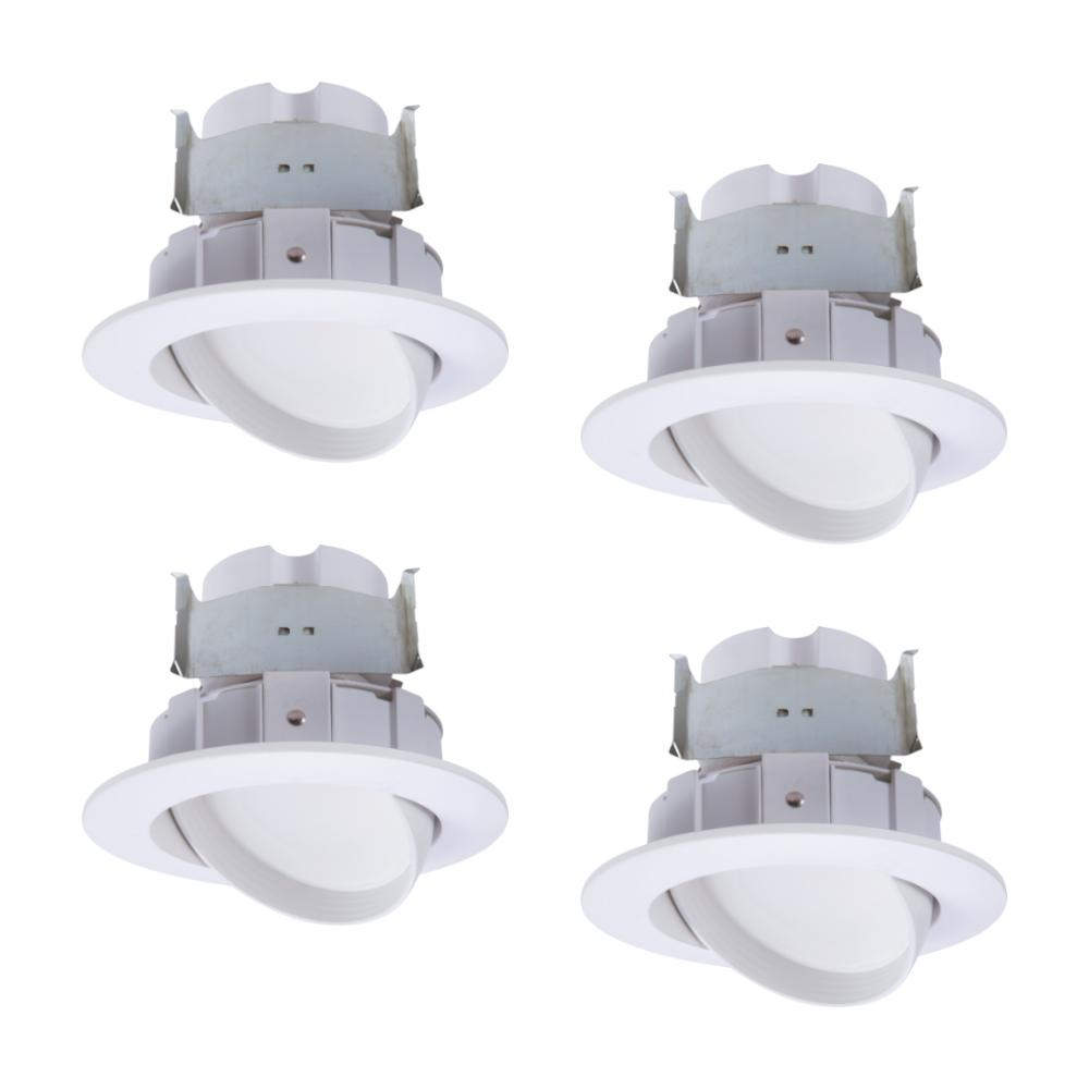 Halo 4 In 2700k 5000k White Integrated Led Recessed Light Adjule Gimbal Retrofit Trim With Selectable Cct Pack