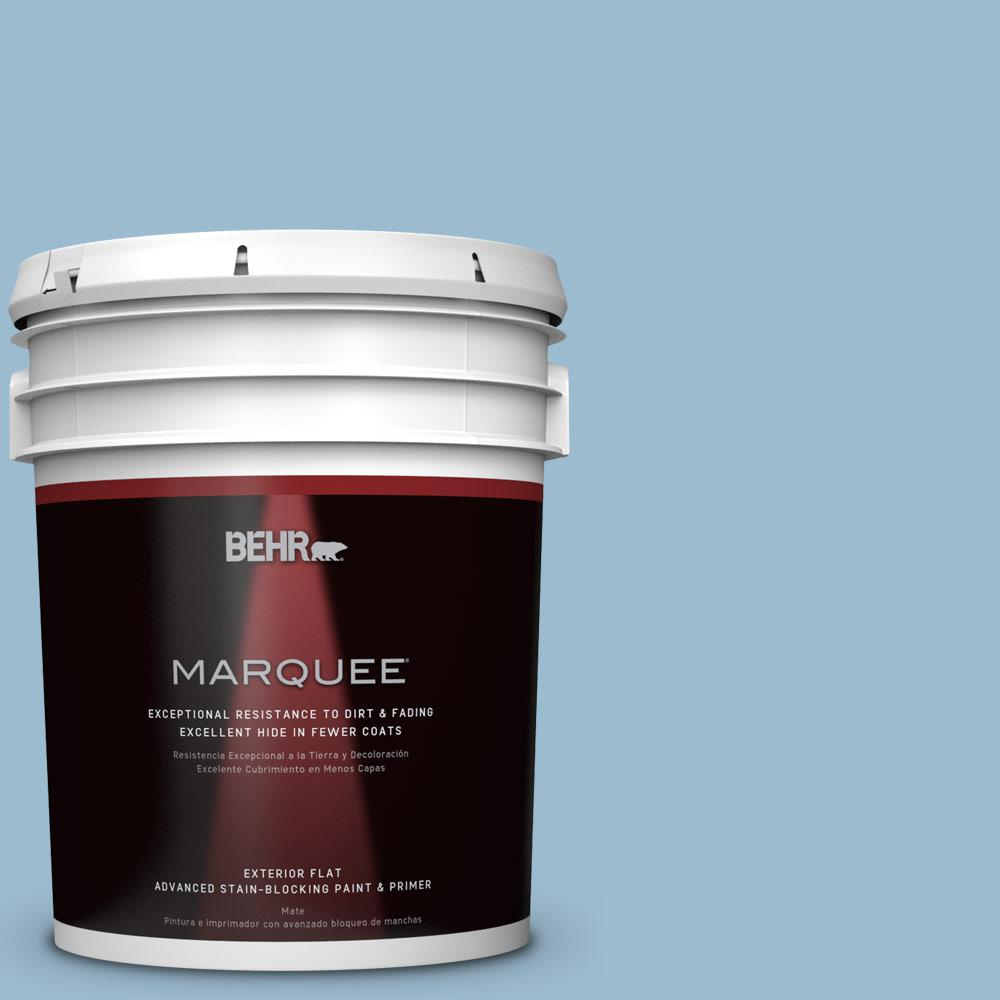 5-gal. #S500-3 Partly Cloudy Flat Exterior Paint