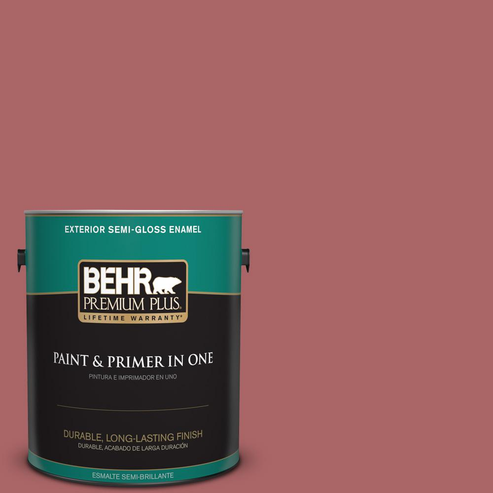 1 gal. #PPU1-06 Rose Marquee Semi-Gloss Enamel Exterior Paint