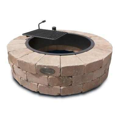Grand 48 in. Fire Pit Kit in Desert with Cooking Grate