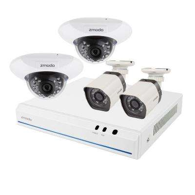 2nd Gen 8-Channel 720p 1TB sPoE NVR Surveillance System with (2) 720p Bullet Cameras and (2) 720p Dome Cameras