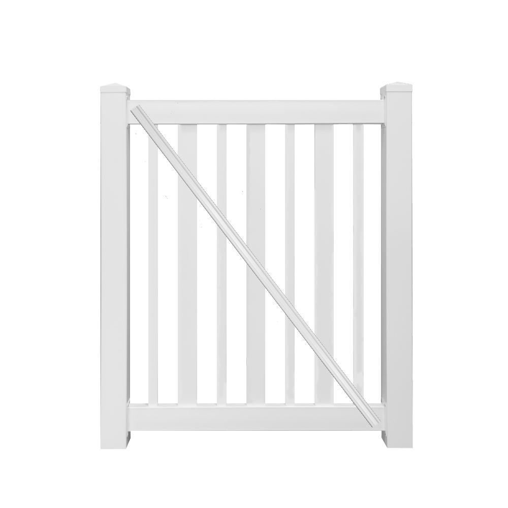 h white vinyl pool fence gate