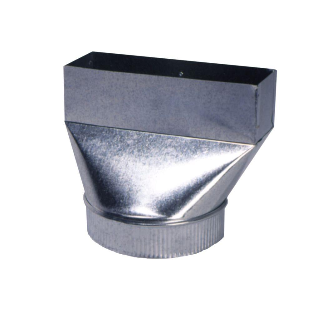 Master Flow 3 1 4 In X 10 In X 7 In Hood Transition Fan Boot Fb3 25x10x7 The Home Depot