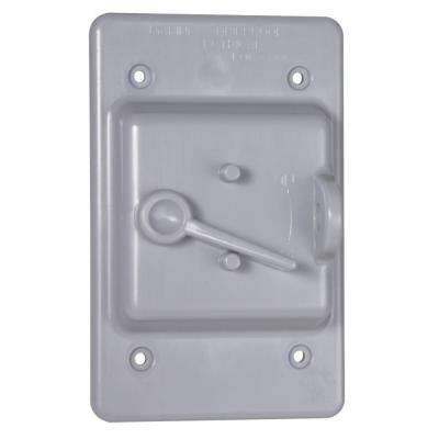1-Gang Toggle Weatherproof Switch Cover, Gray