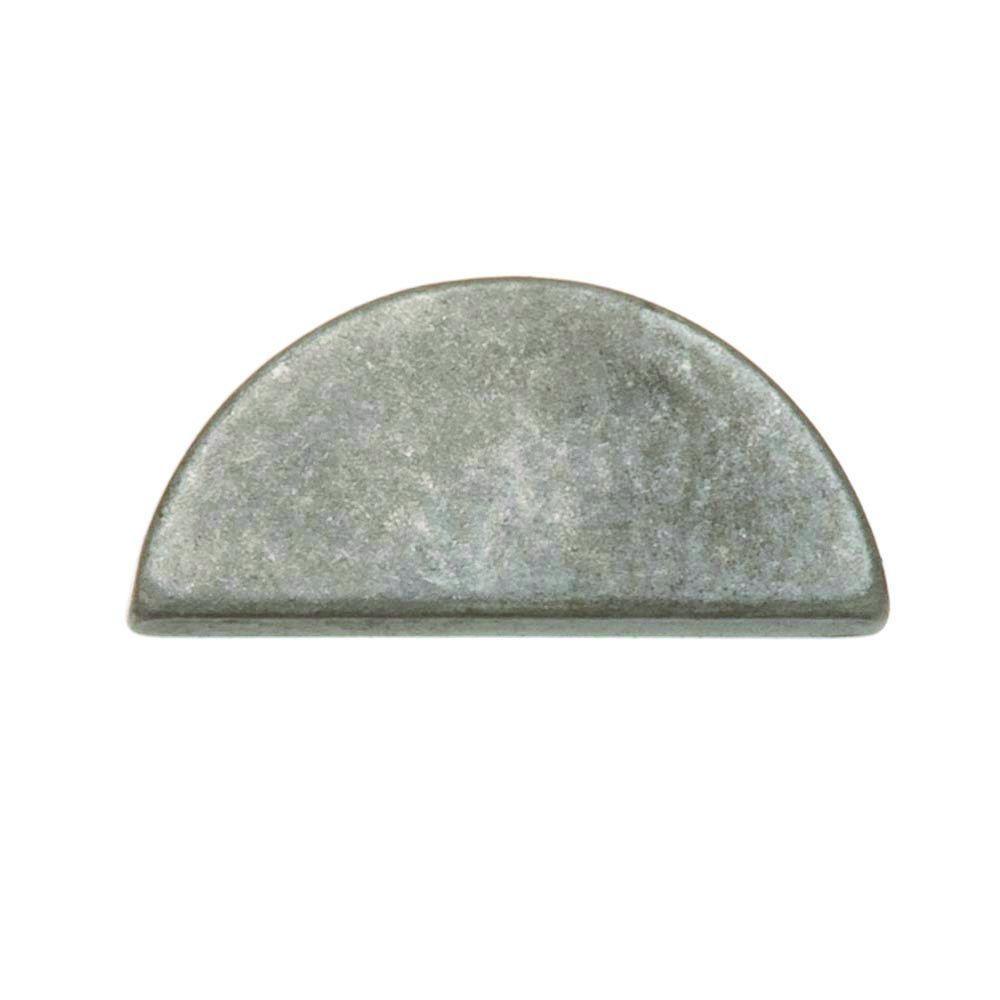 1/16 in. x 3/8 in. Plain Steel Woodruff Key (2-Pieces)