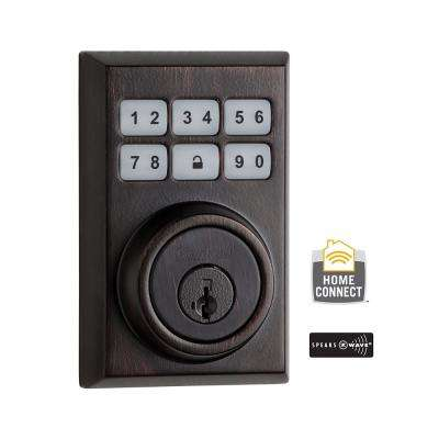 Z-Wave SmartCode 910 Contemporary Venetian Bronze Single Cylinder Electronic Deadbolt Featuring SmartKey Security
