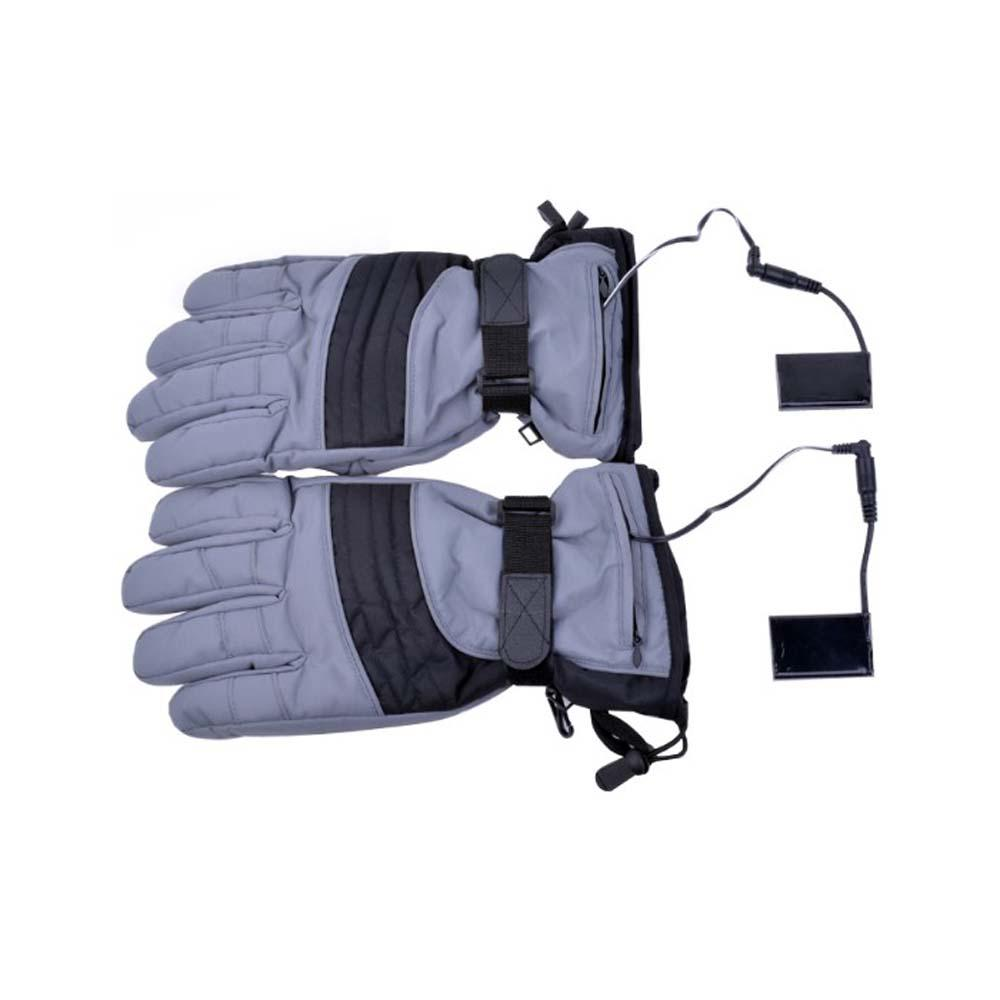 Large Battery Heated Unisex Outdoor Gloves, Gray
