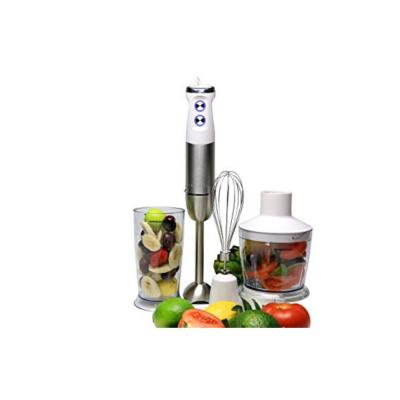 Multi-Purpose Immersion Hand Blender Set 500-Watts, Stainless Steel, 6-Speed Control, Includes Attachments