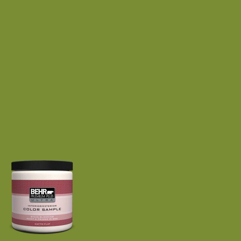 BEHR Premium Plus Ultra 8 oz. #P360-7 Sassy Grass Interior/Exterior Paint Sample