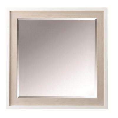 Melbourne 30 in. W x 30 in. H Single Wall Mirror in White Oak