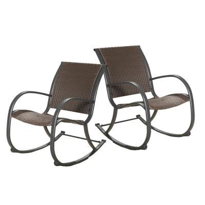 Peyton Aluminum Outdoor Rocking Chair (2-Pack)