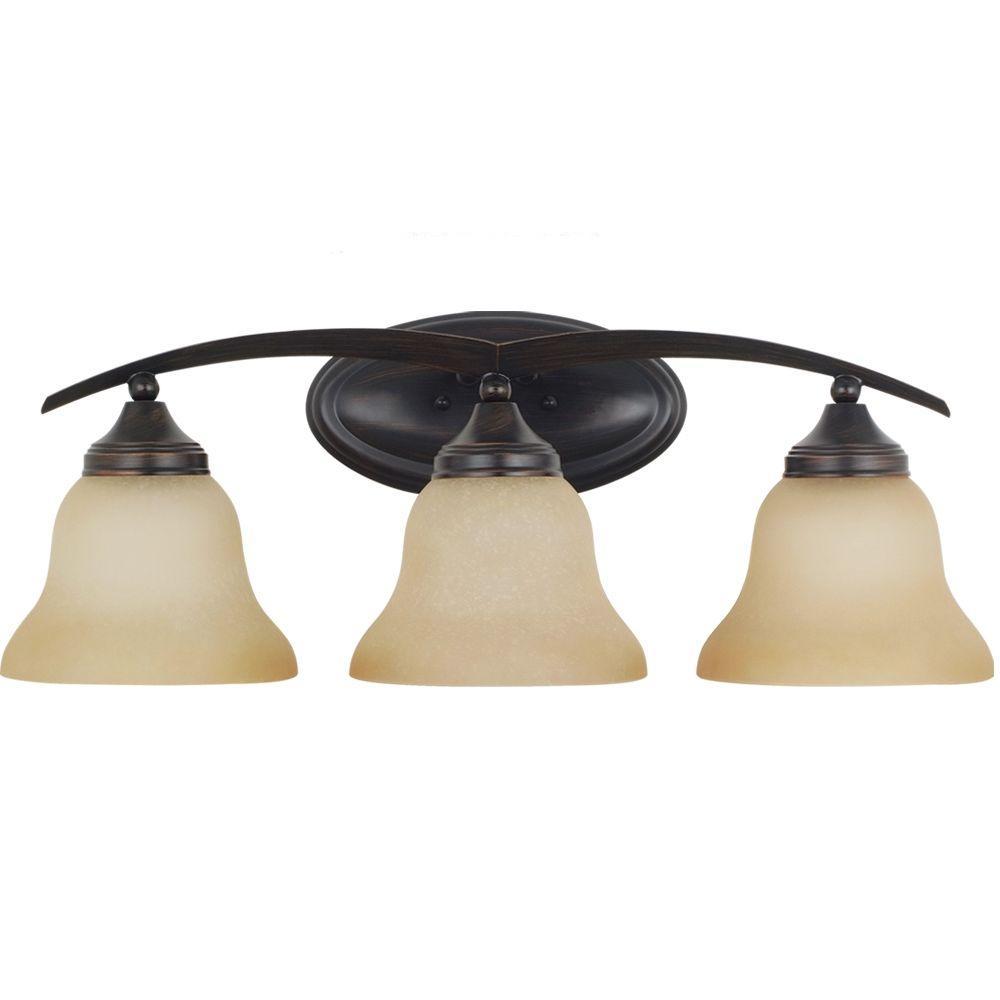 Brockton 3-Light Light Burnt Sienna Vanity Light