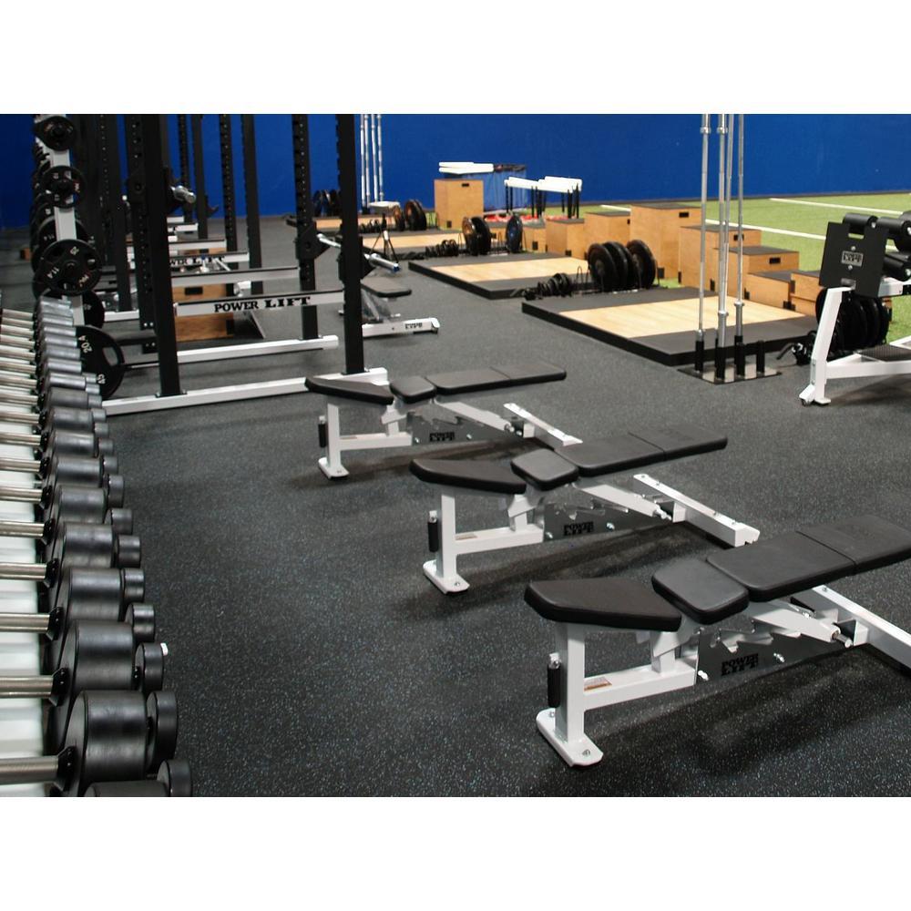 Rubber Gym Flooring Tiles 34 Sq Ft