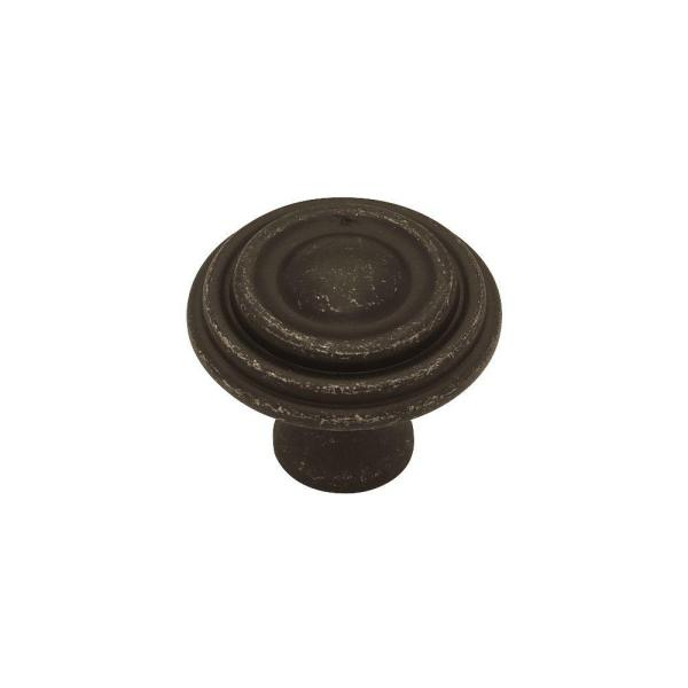 Classic Circles 1-1/2 in. (38mm) Tumbled Dark Gunmetal Round Cabinet Knob