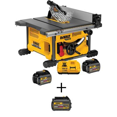 FLEXVOLT 60-Volt MAX Li-Ion Cordless Brushless 8-1/4 in. Table Saw Kit with Bonus FLEXVOLT Li-Ion 6.0 Ah Battery Pack