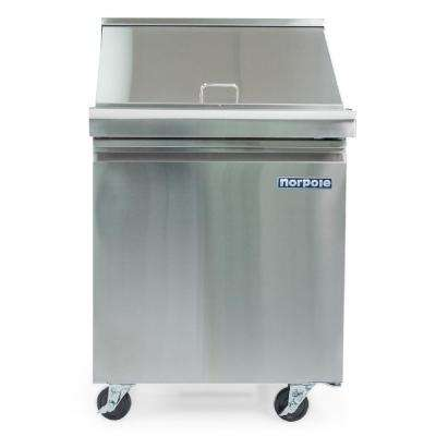 6 cu. ft. Single Door Mega Top Prep Table Commercial Refrigerator in Stainless Steel
