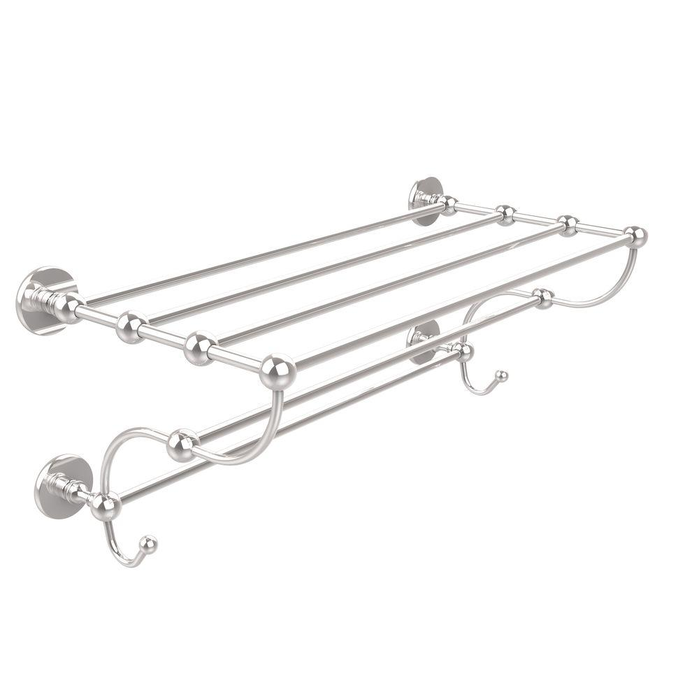 Prestige Skyline Collection 36 in. Train Rack Towel Shelf in Polished