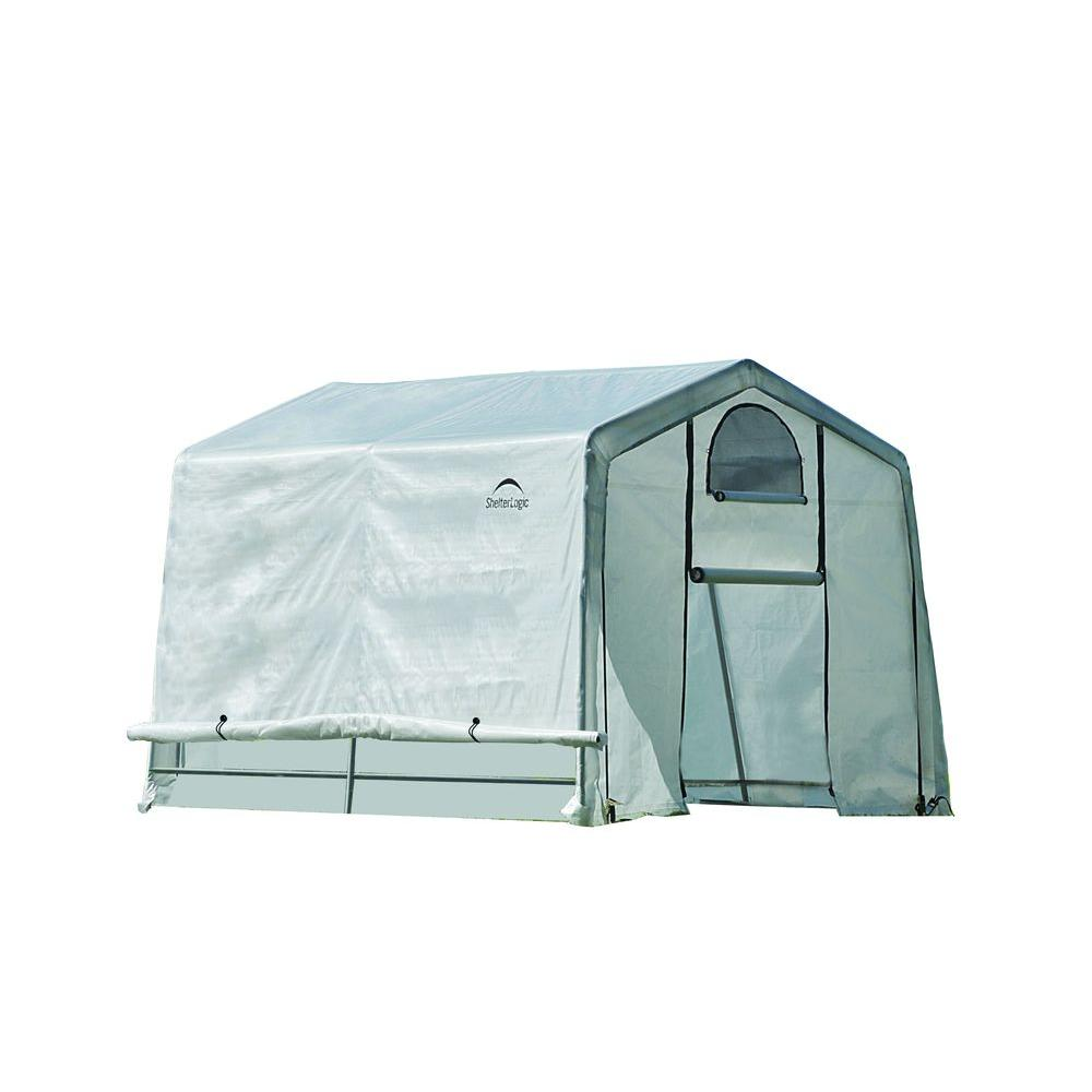 ShelterLogic GrowIt 10 ft. x 10 ft. x 8 ft. Greenhouse-In-A-Box