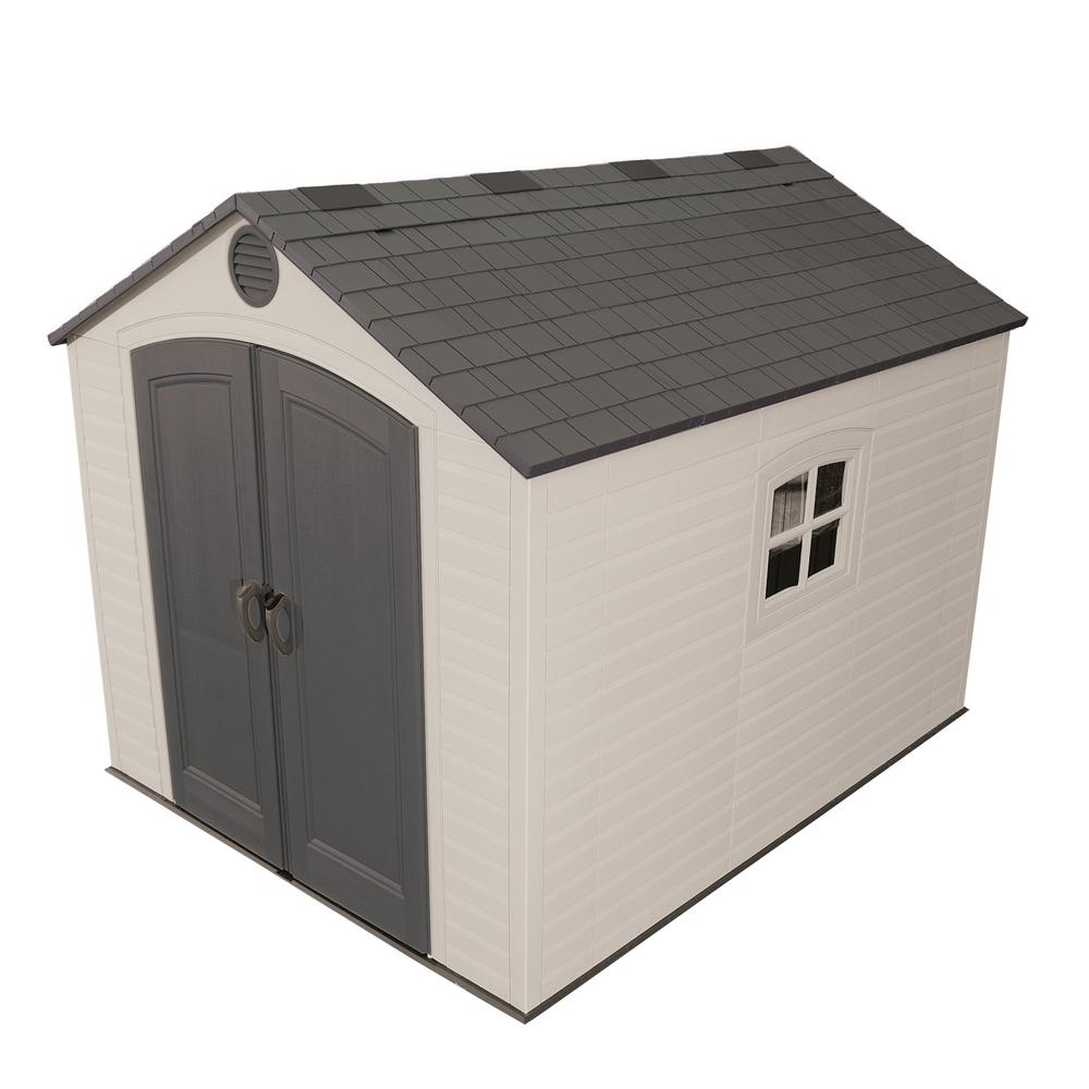 Lifetime Installed 8 ft. x 10 ft. Outdoor Storage Plastic Shed