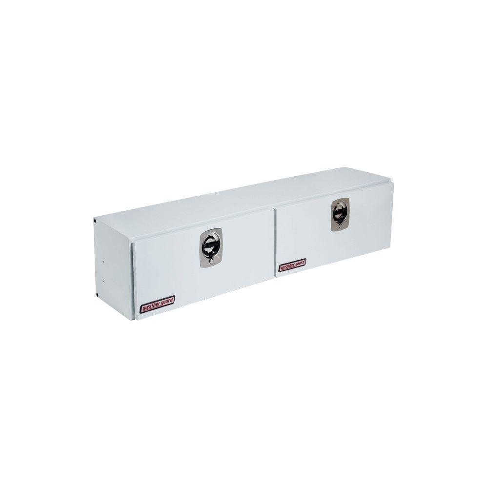 72.25 in. Steel High Side Box in Brite White