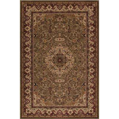 Persian Classics Isfahan Green 7 ft. x 10 ft. Area Rug