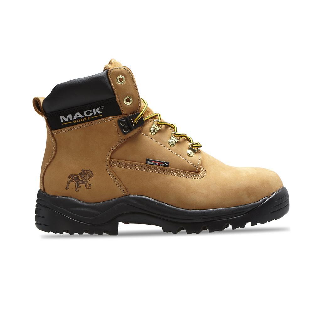 Men 6 in. Size 11 Honey Leather Steel-Toe Work Boot
