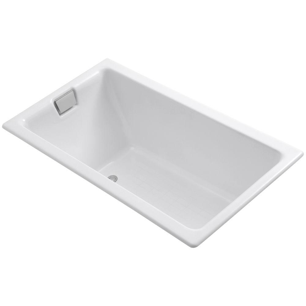 KOHLER Tea-for-Two 5.5 ft. Reversible Drain Cast Iron Soaking Tub in ...