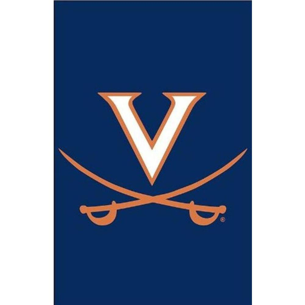 Team Sports America NCAA 12-1/2 in. x 18 in. Virginia 2-Sided Garden Flag with 3 ft. Metal Flag Stand-DISCONTINUED