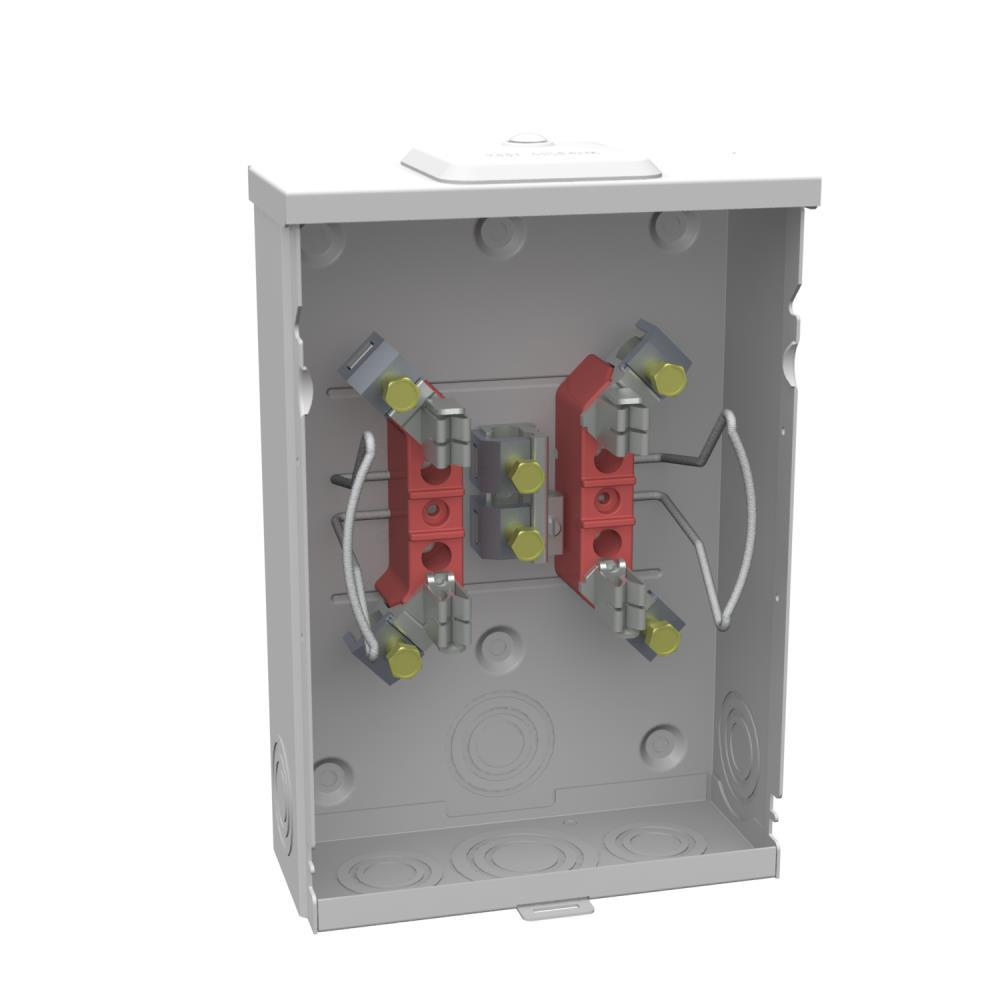 Square D 100 Amp Ring-Type Overhead or Underground Meter Socket ...