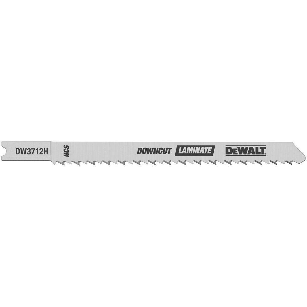 DEWALT 4 in. 10 TPI Laminate Down Cutting Jig Saw Blade Bi-Metal U-Shank (5-Pack)