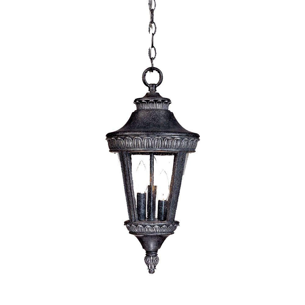 Acclaim Lighting Seville Collection Hanging Lantern 3-Light Outdoor Stone Light Fixture