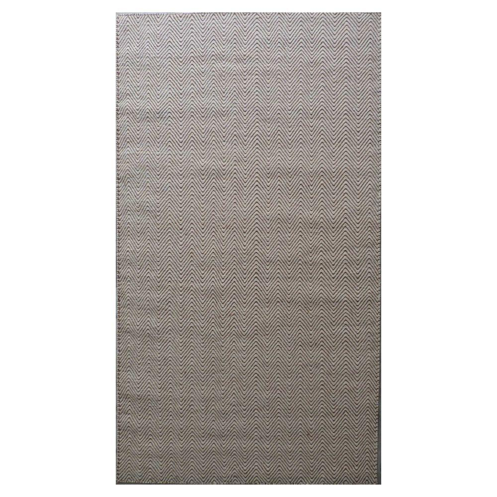 Kas Rugs Playa Dhurrie Taupe 2 ft. 3 in. x 3 ft. 9 in. Accent Rug