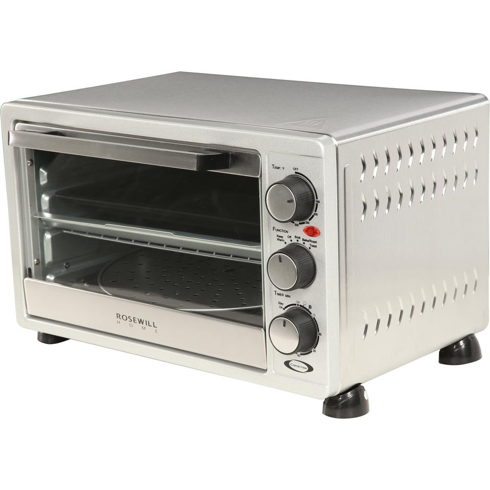 Rosewill 6-Slice Stainless Steel Toaster Oven Broiler with Drip Pan ...