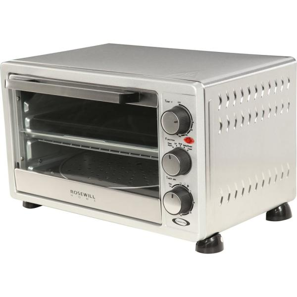 Rosewill 6-Slice Stainless Steel Toaster Oven Broiler with Drip Pan