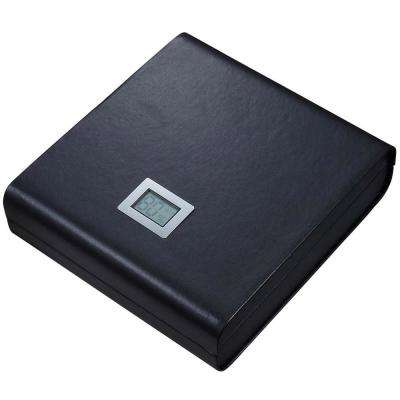 Leather Madrid Travel Humidor with Embedded Digital Hygrometer