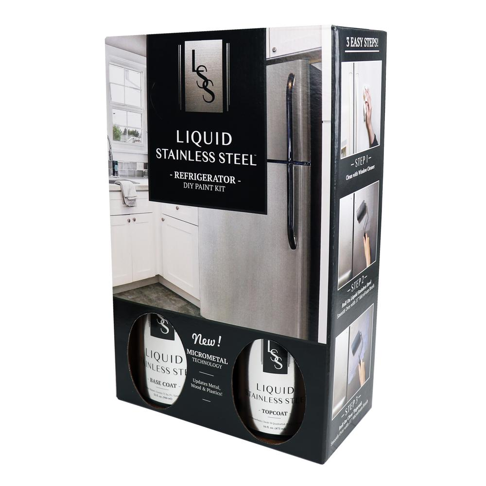 Giani Liquid Stainless Steel 1.5 qt. Stainless Steel Appliance Paint Kit