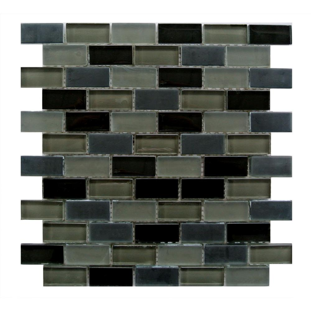 Free Flow Dark Gray Mix 12 in. x 12 in. x