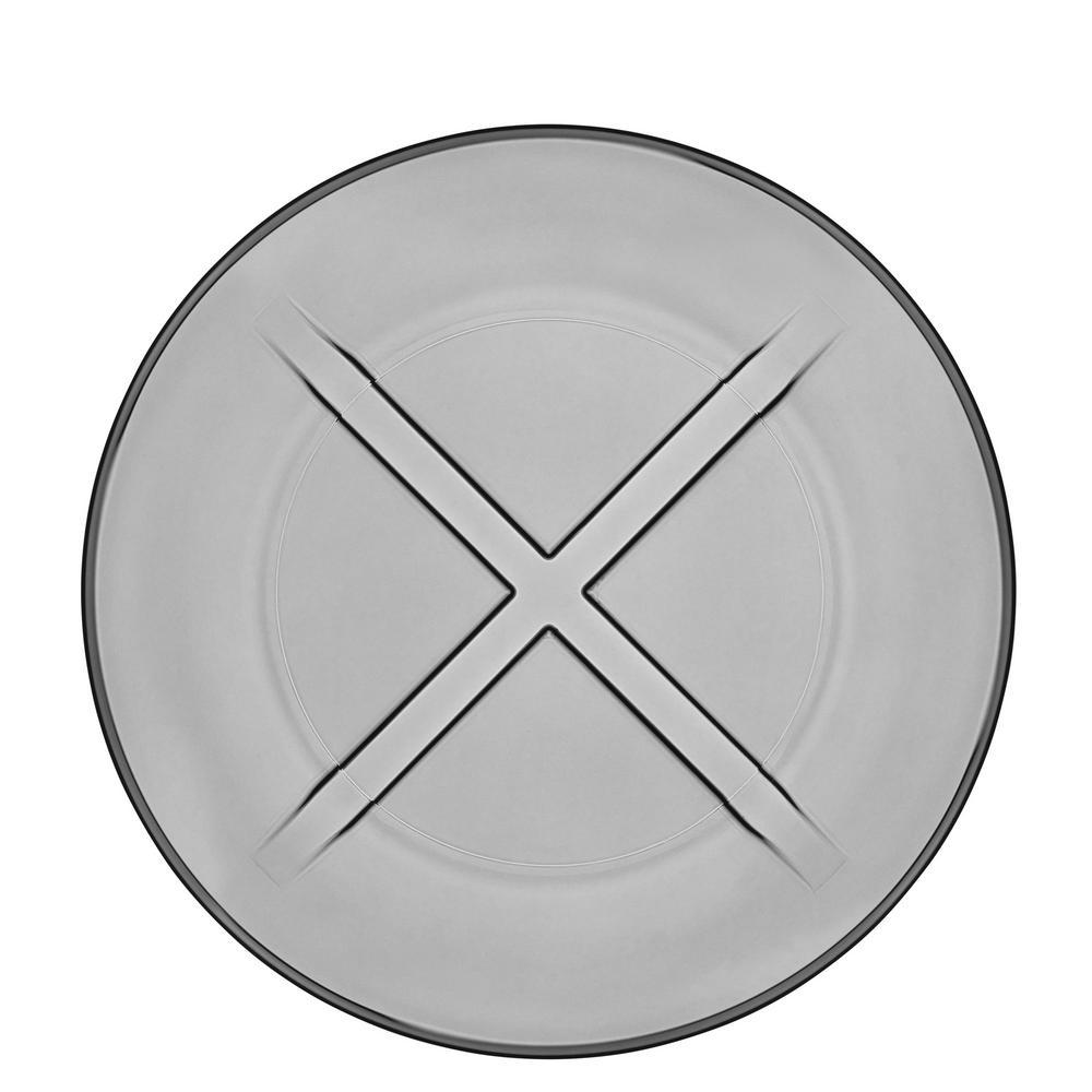 Bruk Smoke Grey Salad Plate (Set of 4)