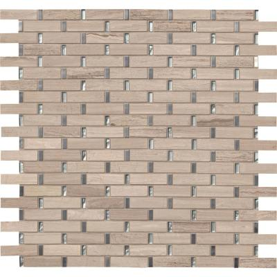 Stella 12 in. x 12 in. x 8 mm Glass Metal and Stone Mesh-Mounted Mosaic Tile (10 sq. ft. / case)