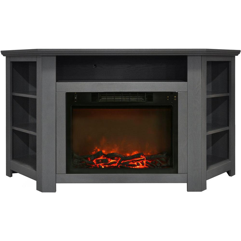 Hanover Tyler Park 56 In Electric Corner Fireplace In