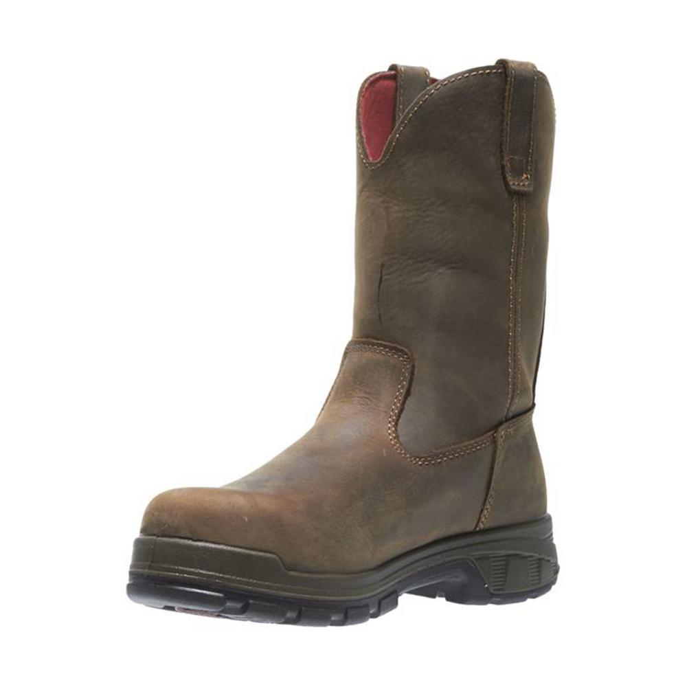 eafef288475 Wolverine Men's Cabor 14M Dark Brown Nubuck Leather Waterproof Composite  Toe 10