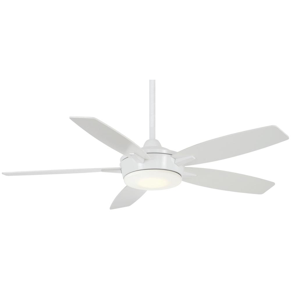 Minka-Aire Espace 52 in. Integrated LED Indoor White Ceiling Fan with Light with Remote Control