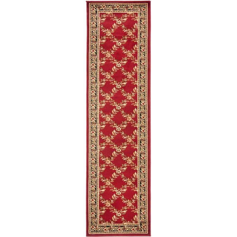 Safavieh Lyndhurst Red/Black 2 ft. 3 in. x 8 ft. Runner