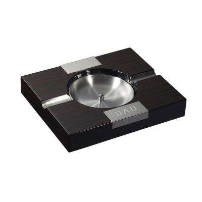 Tigress Solid Ebony Wood Finish Cigar Ashtray - Father's Day Edition
