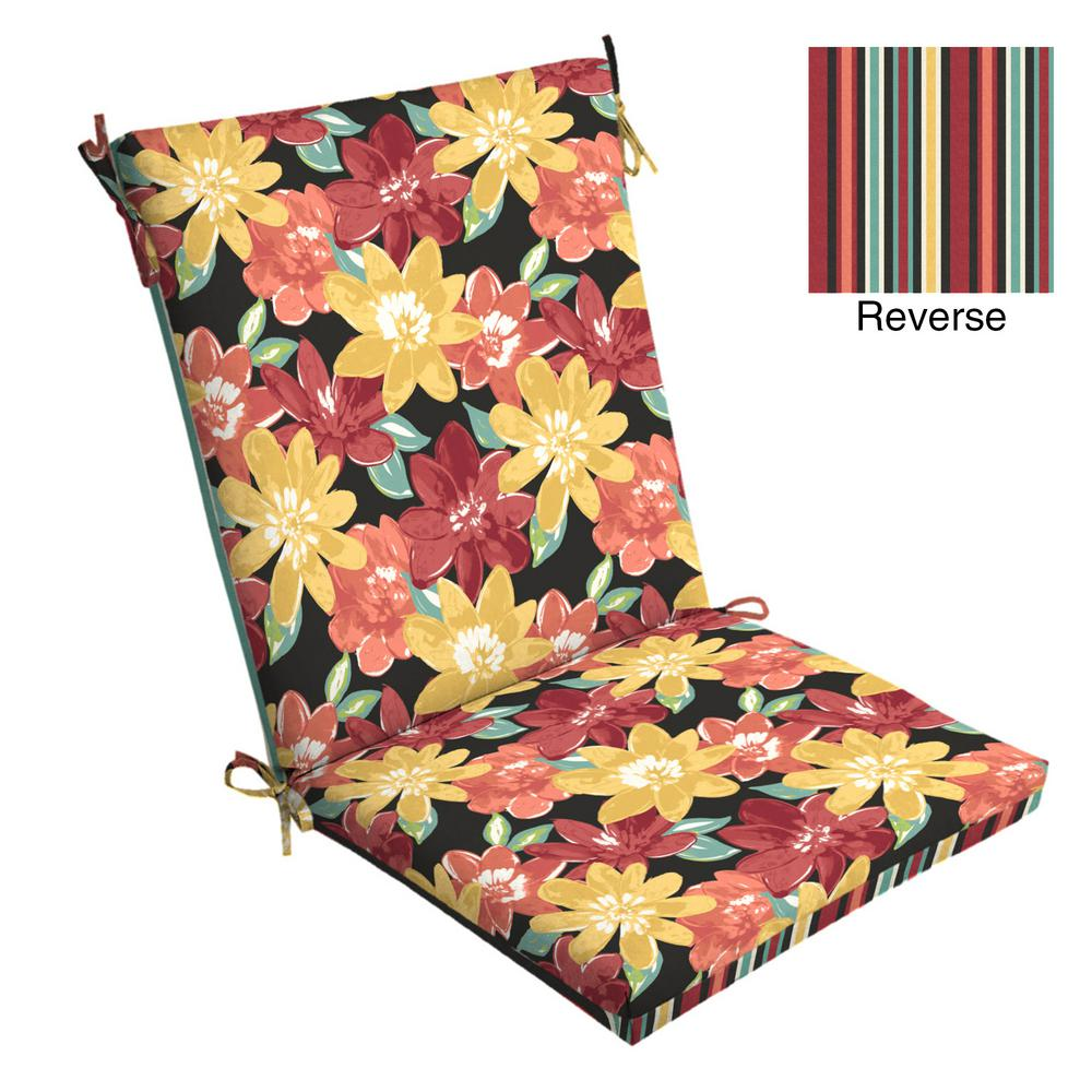 20 x 20 Ruby Abella Floral Outdoor Dining Chair Cushion